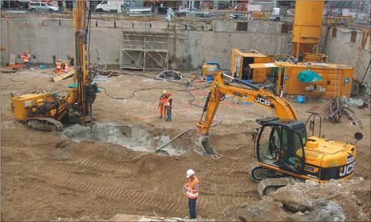 Geomesstechnik bei der Baugrubenherstellung